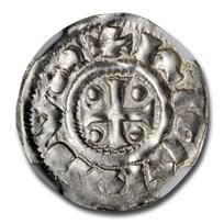 943-996 France Normandy Silver Denier Richard I MS-64 NGC