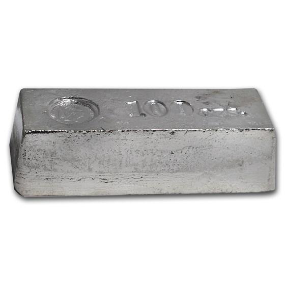98.30 oz Silver Bar - The Washington Mint