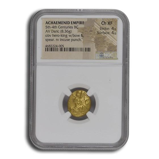 Achaemenid Persia Gold AV Daric (5th-4th Century BC) Ch XF NGC