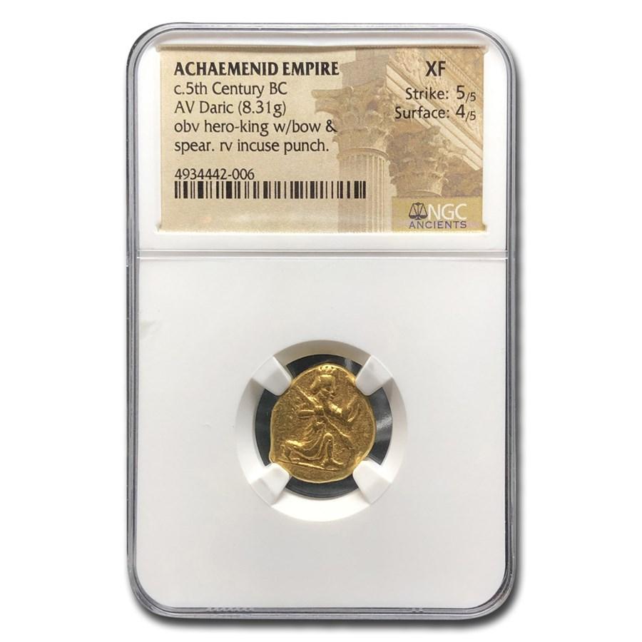 Achaemenid Persia Gold AV Daric (5th Century BC) XF NGC