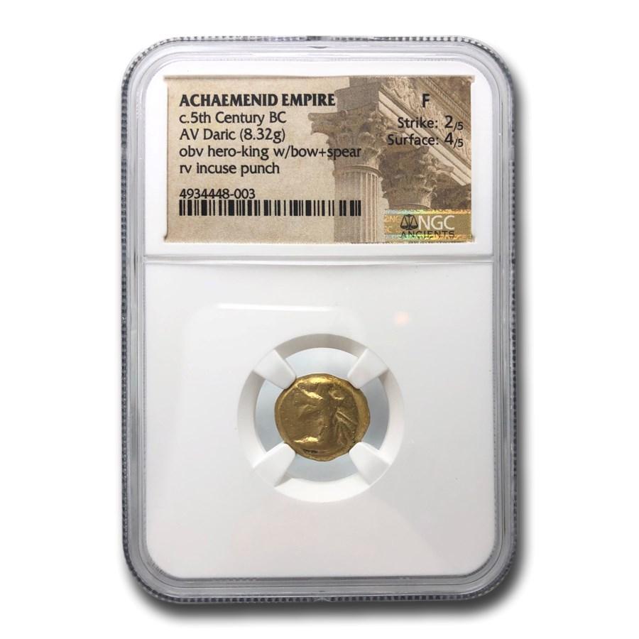 Achaemenid Persia Gold AV Daric (circa 5th Century BC) Fine NGC