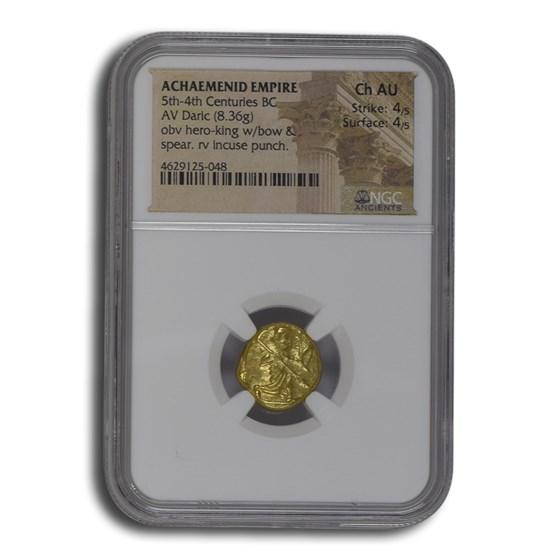 Achaemenid Persia Gold Daric (5th-4th Century BC) Ch AU NGC