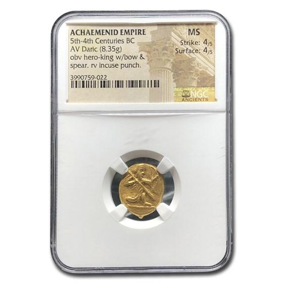 Achaemenid Persia Gold Daric (5th-4th Century BC) MS NGC