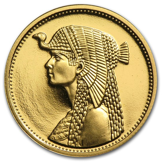 AH1414/1993 Egypt Proof Gold 50 Pound Cleopatra