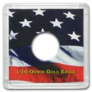 American Gold Eagle Coin Display - 1/10 oz
