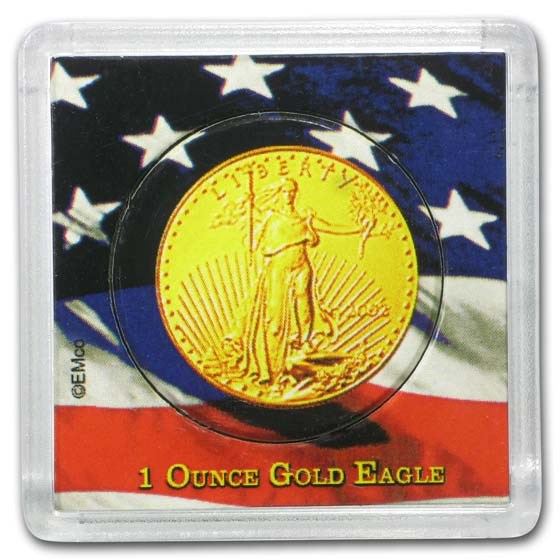 American Gold Eagle Coin Display - 1 oz