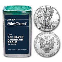 American Silver Eagles (Random Year, 20-Coin MintDirect® Tube)