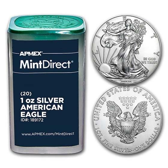 American Silver Eagles (Random Year, 20-Coin MintDirect® Tube)