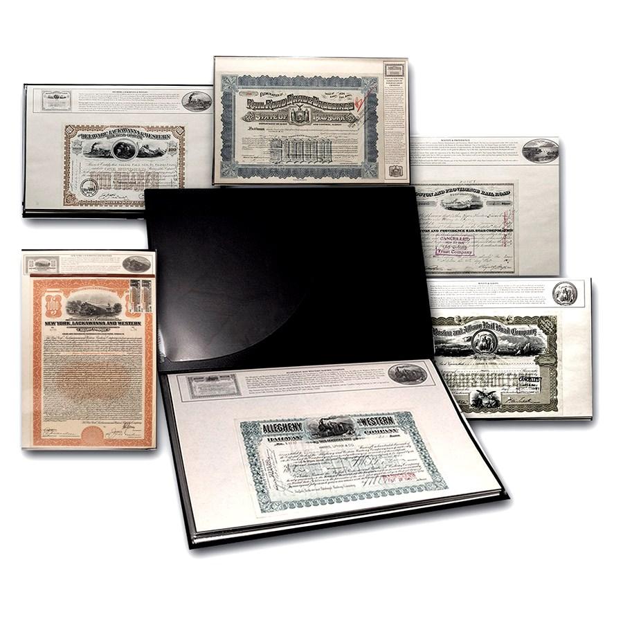 America's Great Railroads Collection (25 Stock & Bonds in Folio)