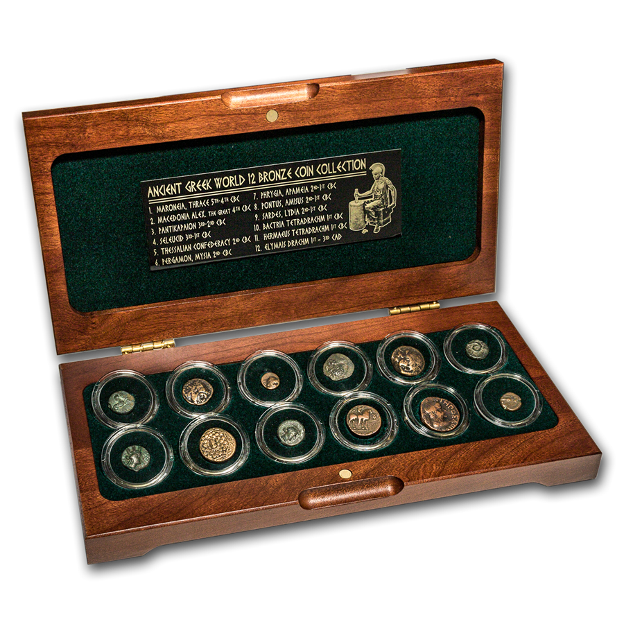 Ancient Greek World Bronze 12-Coin Set (5th century BC - 2nd AD)