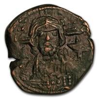 Anonymous Byzantine Follis Christ Bust (976-1081 AD) VF-XF