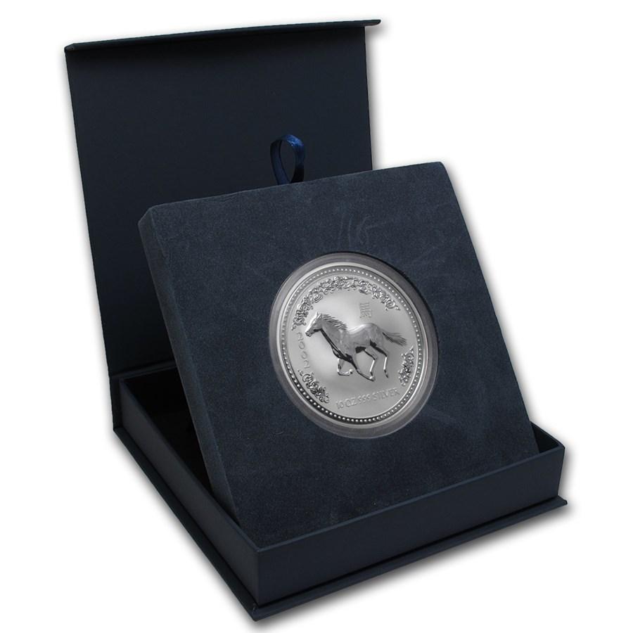 APMEX Gift Box - 10 oz Perth Mint Silver Coin Series 1 & 3