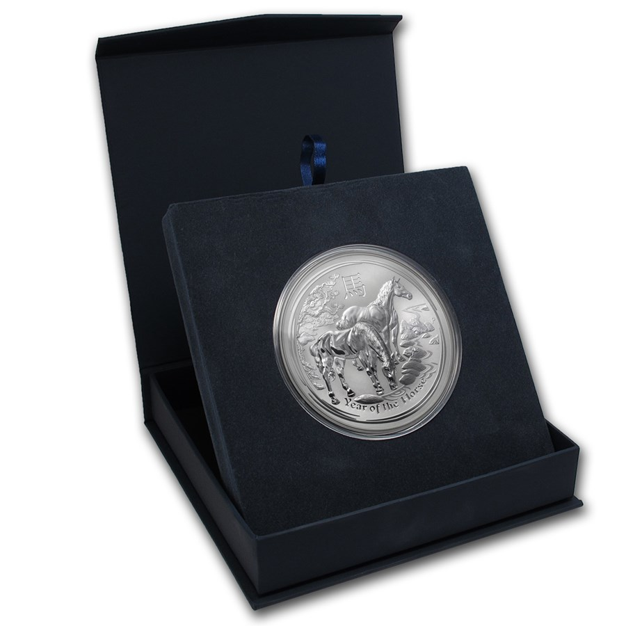 APMEX Gift Box - 10 oz Perth Mint Silver Coin Series 2