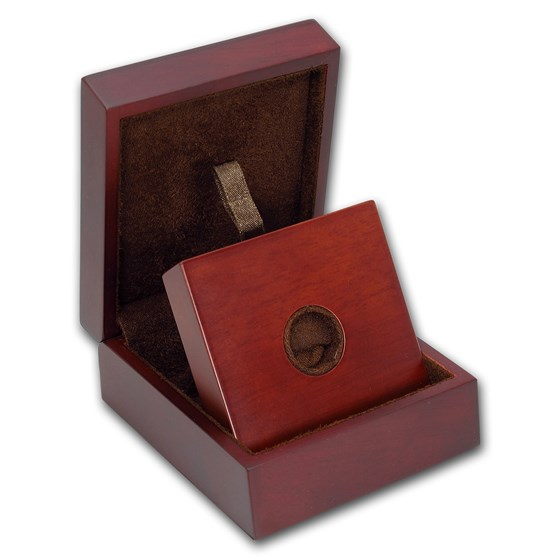 APMEX Wood Gift Box - 1/10 oz Perth Mint Gold Coin Series 1 & 3