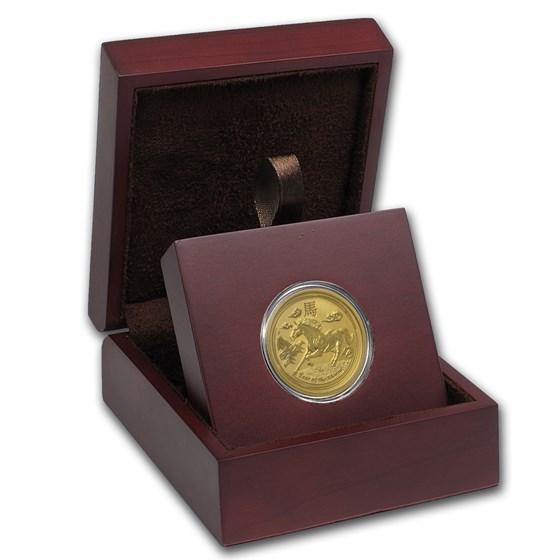 APMEX Wood Gift Box - 1/2 oz Perth Mint Gold Coin Series 2