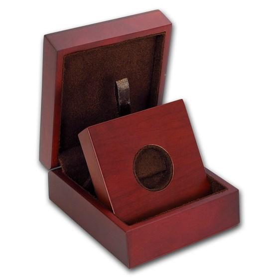 APMEX Wood Gift Box - 1/2 oz Perth Mint Gold Coin