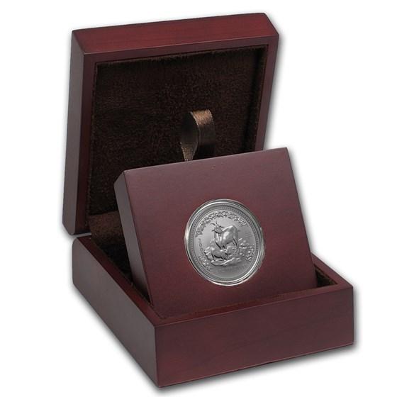 APMEX Wood Gift Box - 1/2 oz Perth Mint Silver Coin Series 1 & 3