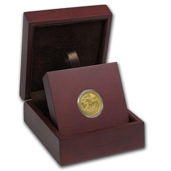 APMEX Wood Gift Box - 1/4 oz Perth Mint Gold Coin Series 2
