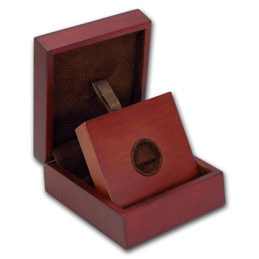 APMEX Wood Gift Box - 1/4 oz Perth Mint Gold Coin