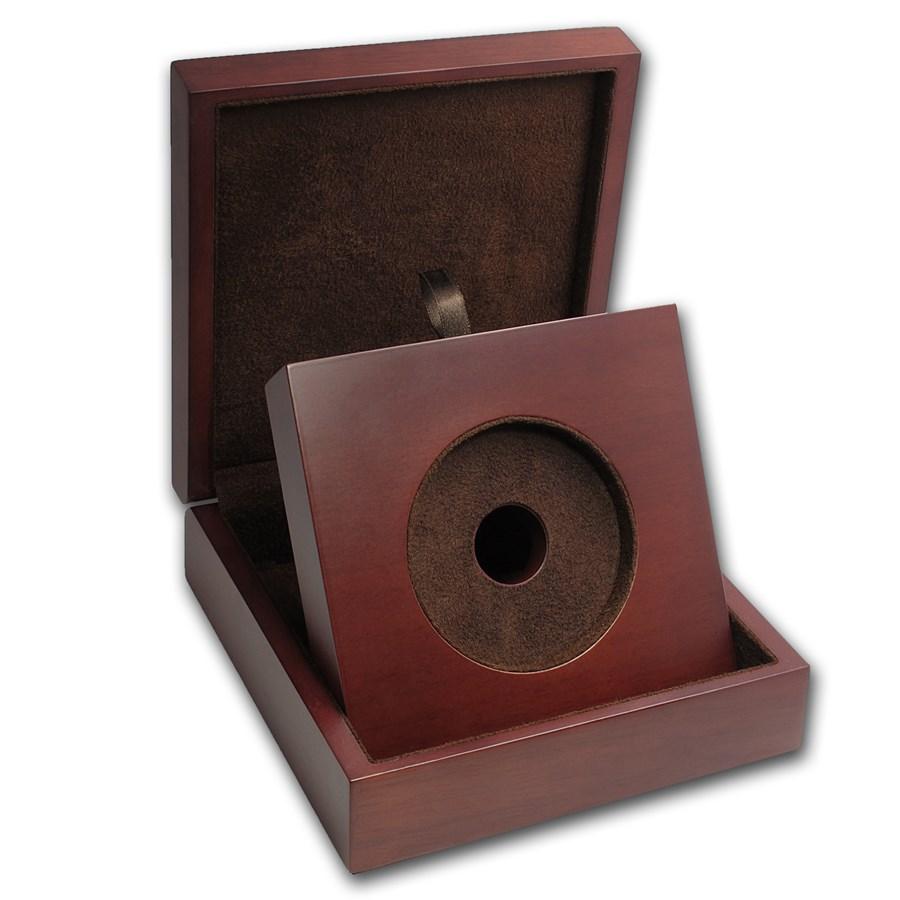 APMEX Wood Gift Box - 10 oz Perth Mint Gold Coin Series 2