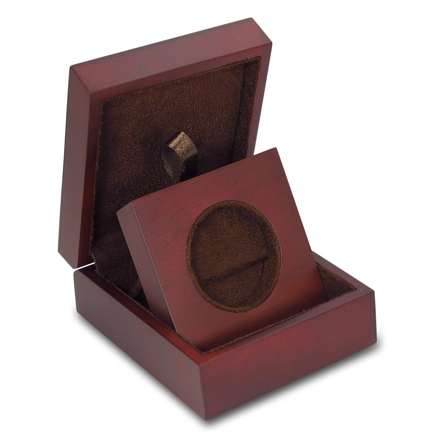 APMEX Wood Gift Box - 2 oz Perth Mint Gold Coin