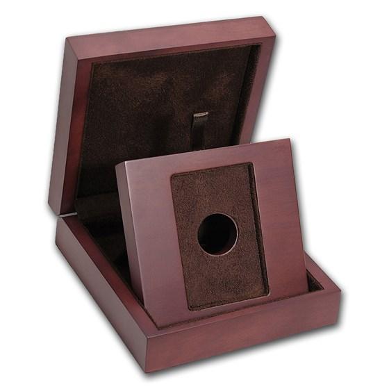 APMEX Wood Gift Box - Credit Suisse 1 oz Gold Bar (w/Assay)