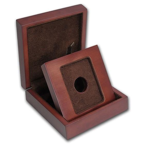 APMEX Wood Gift Box - MintDirect® Single in TEP