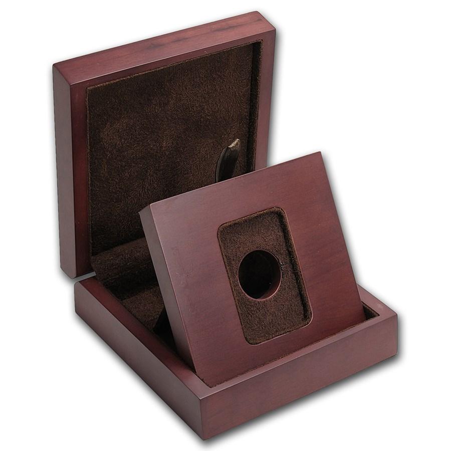 APMEX Wood Gift Box - SMI Gold Bar Mini (w/Assay)