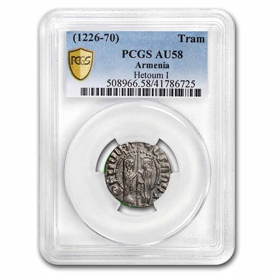 Armenia AR Tram Hetoum I & Zabel (1226-1270 AD) AU-58 PCGS