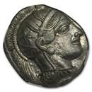 Athens Ag Tetradrachm Owl (440-404 BC) Ch AU NGC (Parliament Col)
