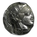 Athens Ag Tetradrachm Owl (440-404 BC) MS NGC (Parliament Col)