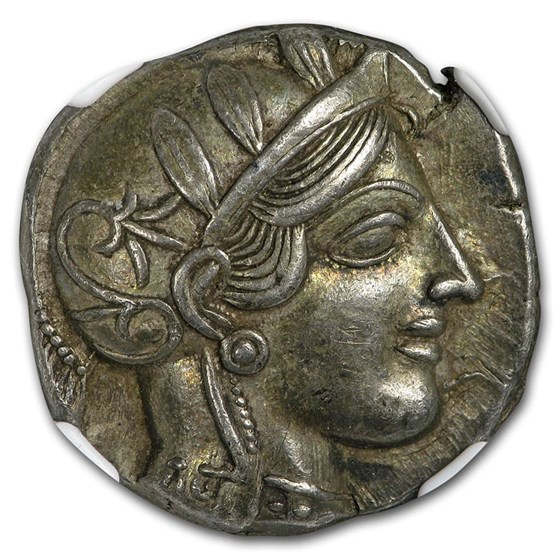 Athens AR Tetradrachm Owl (440-404 BC) Ch XF NGC (Fine Style)