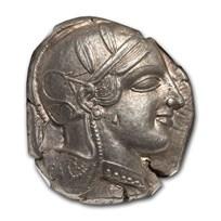 Athens AR Tetradrachm Owl (455-440 BC) Ch AU NGC (Fine Style)