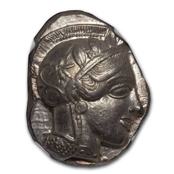 Attica, Athens AR Tetradrachm Owl (440-404 BC) AU NGC (Brushed)