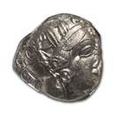 Attica,Athens AR Tetradrachm Owl (440-404 BC) Ch AU NGC (Brushed)