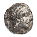 Attica,Athens AR Tetradrachm Owl (440-404 BC) Ch AU NGC