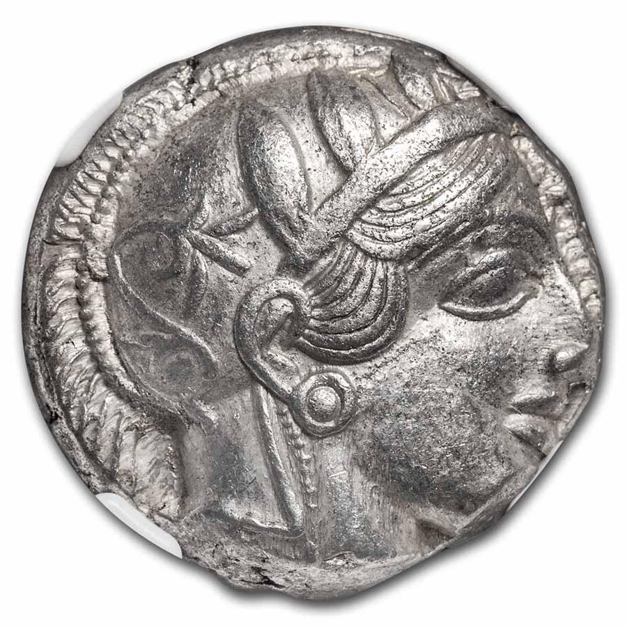 Attica, Athens Silver Tetradrachm Owl (440-404 BC) AU NGC