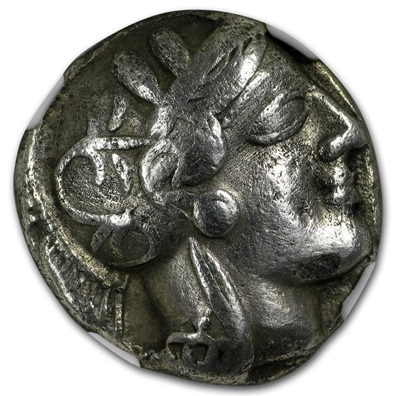 Attica Athens Silver Tetradrachm Owl (440-404 BC) Ch Fine NGC