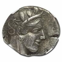 Attica, Athens Silver Tetradrachm Owl (440-404 BC) Ch VF NGC