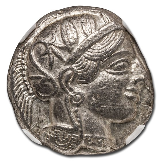 Attica, Athens Silver Tetradrachm Owl (440-404 BC) Ch XF NGC
