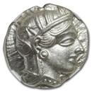 Attica Athens Silver Tetradrachm Owl (440-404 BC) MS NGC
