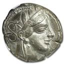 Attica, Athens Silver Tetradrachm Owl (440-404 BC) XF NGC