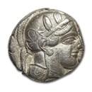 Attica, Athens Silver Tetradrachm Owl (440-404 BC) XF