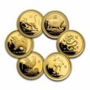 Australia 1/10 oz Gold Proof Lunar Coin (Series I, Random Year)
