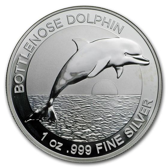 Australia 1 oz Silver $1 Dolphin BU (Abrasions)