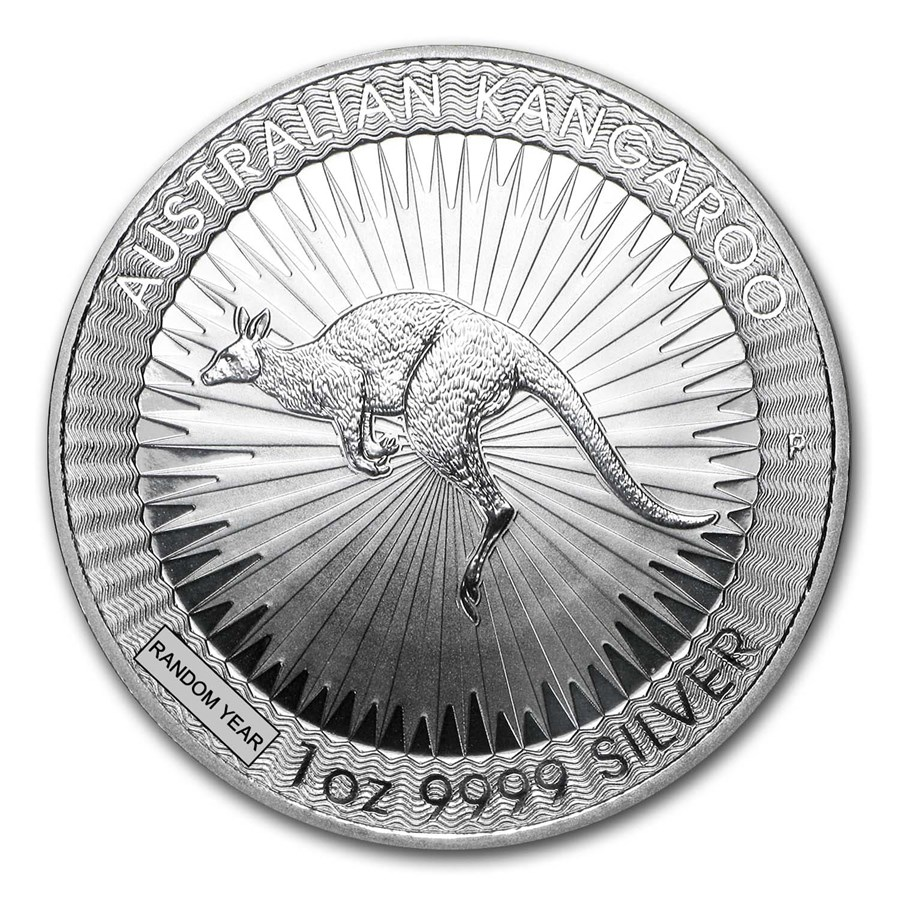 Australia 1 oz Silver Kangaroo BU (Random Year)