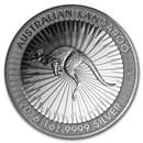 Australia 1 oz Silver Kangaroo (Random, Abrasions)