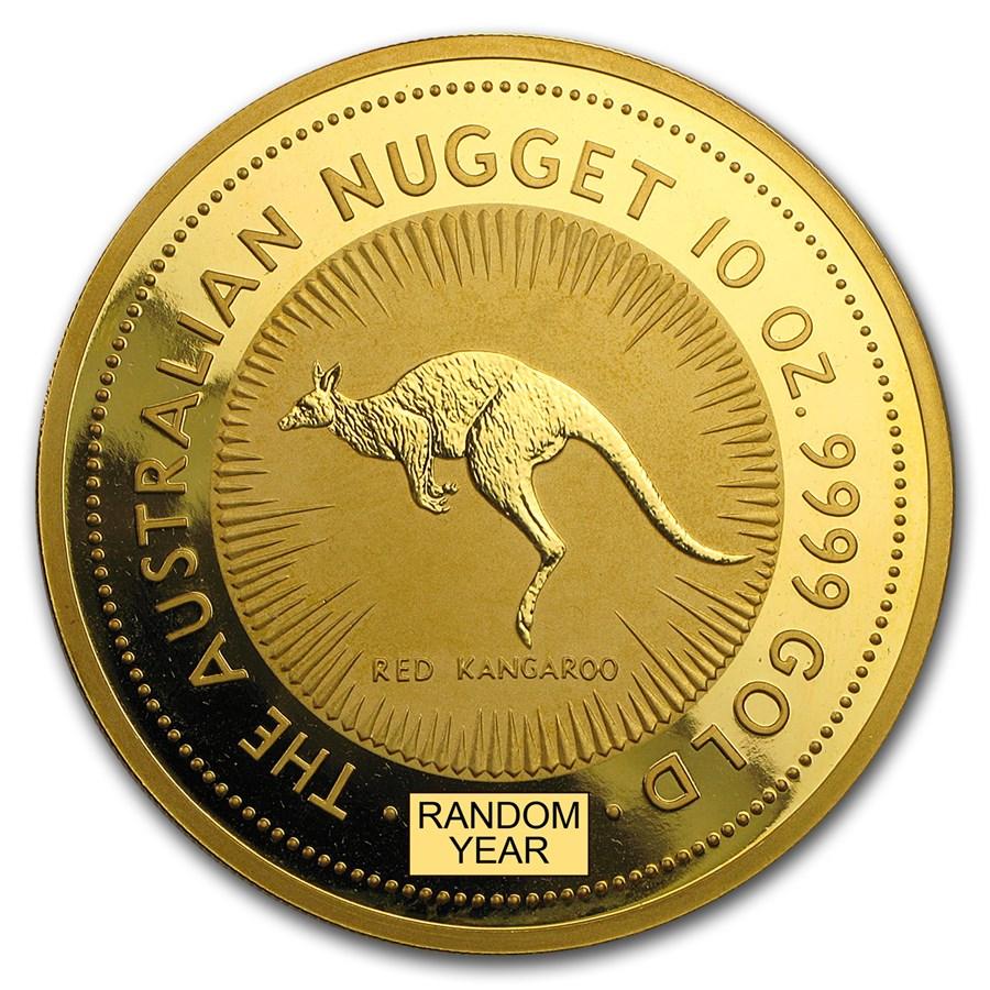 Australia 10 oz Gold Kangaroo &/or Nugget BU (Random Year)