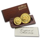 Australia 2-Coin Gold Nugget Proof Set (Random Year) .35 ozt
