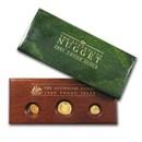 Australia 3-Coin Gold Nugget Proof Set (Random Year) .40 ozt